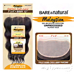 Sensationnel 100% Virgin Remi Bundle Hair Bare & Natural - SWISS FULL LACE 7 X 4 BODY 12