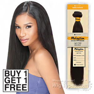 Sensationnel 100% MALAYSIAN Virgin Remi Bundle Hair Bare & Natural - YAKI 10 (Buy 1 Get 1 FREE)
