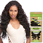 Sensationnel 100% Peruvian Virgin Remi Bundle Hair Bare & Natural - LOOSE DEEP 1PK (14/14/16/16/18/18 + Closure)
