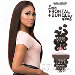 Sensationnel 100% Virgin Remi Bare & Natural Lace Frontal + Bundle Deal - STRAIGHT 12,14,16 (Full 13x4.5 Ear To Ear Lace Frontal Closure With Bundles)