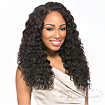 Sensationnel 100% Peruvian Virgin Remi Bundle Hair Bare & Natural - WET & WAVY LOOSE DEEP 1pk (14/14/16/16/18/18 + Silk Base Closure)