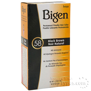 Bigen Powder Hair Color 58 Black Brown
