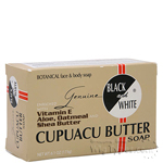 Black and White Cupuacu Butter Soap 6.1oz