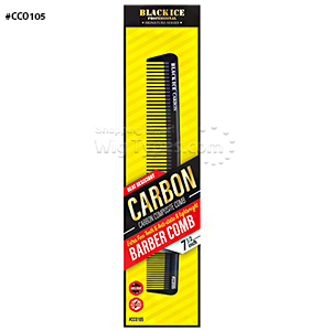 Black Ice #CCO105 Carbon Barber Comb 7.5