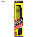 Black Ice #CCO110 Carbon Handle Fine Tooth Comb 8.5""