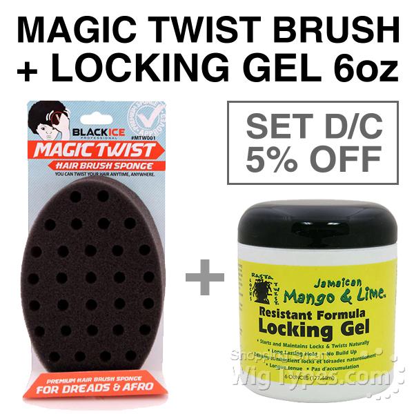 Black Ice Magic Twist Hair Brush Sponge 7mm Jamaican