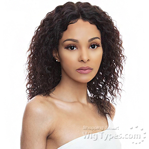The Wig Black Pink 100% Brazilian Virgin Remy Human Hair 360 Lace Wig - HBL360 BEACH CURL 16-18