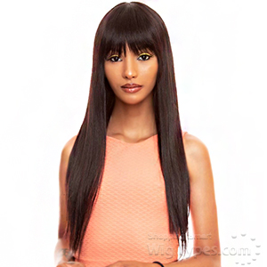 The Wig Black Pink 100% Brazilian Virgin Remy Human Hair Wig - HHBW CLEO 22
