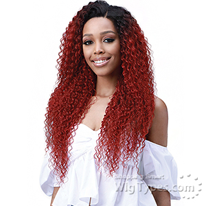 Bobbi Boss Human Hair Blend 13X6 Frontal Lace Wig - MOGLWJE26 JERRY CURL 26