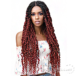Bobbi Boss Synthetic Hair 4x4 Braid Lace Wig - MLF517 SPRING TWIST 28