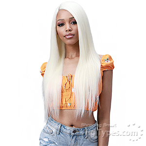 Bobbi Boss Human Hair Blend 13X6 Frontal L Lace Wig - MOGLWST26 NATURAL STRAIGHT 26