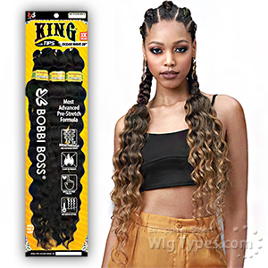 Bobbi Boss Synthetic Pre Feathered Braid - 3X KING TIPS OCEAN WAVE 28