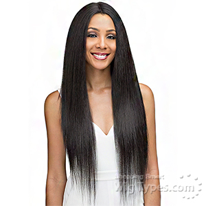 Bobbi Boss 100% Human Hair Blend Designer Mix Full Hand-Tied Lace Front Wig - MBDLF005 NOVA (5 inch deep center part)