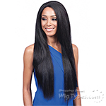 Bobbi Boss Human Hair Blend 2 inch Deep Part Swiss Lace Front Wig - MBLF110 TRINA
