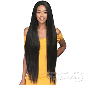 Bobbi Boss Human Hair Blend 2 inch Deep Wide Swiss Lace Front Wig - MBLF130 DACIA