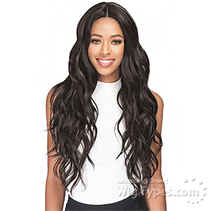 Bobbi Boss Human Hair Blend 4.5 inch Deep Part Swiss Lace Front Wig - MBLF140 FREYA