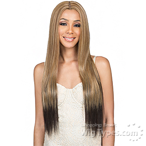 Bobbi Boss Human Hair Blend 4.5 inch deep part Swiss Lace Front Wig - MBLF30 LIA