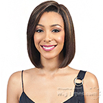 Bobbi Boss 100% Human Hair Sleek Bob Lace Front Wig - MHLF405 HH FLORA (5 inch deep part)