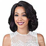 Bobbi Boss 100% Brazilian Remi Human Hair Lace Front Wig - MHLF901 CARLI (4 inch deep part)