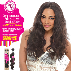 Janet Collection 100% Unprocessed Remy Human Hair Weave - BRAZILIAN BOMBSHELL BODY WAVE