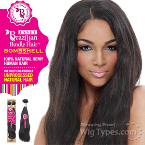 Janet Collection 100% Unprocessed Remy Human Hair Weave - BRAZILIAN BOMBSHELL NATURAL WEAVE 12-14