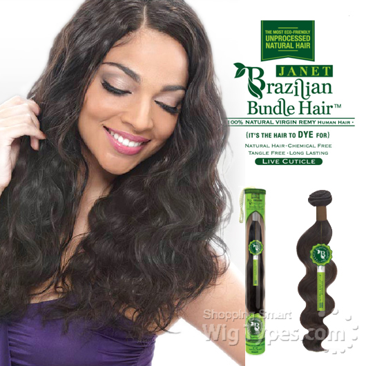 Janet Collection 100 Unprocessed Remy Human Hair Weave Brazilian Natural Body