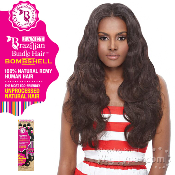 Janet collection 100 unprocessed remy human hair weave janet collection 100 unprocessed remy human hair weave brazilian bombshell natural body wave 6pcs pmusecretfo Choice Image