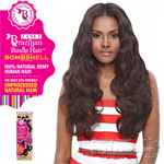 Janet Collection 100% Unprocessed Remy Human Hair Weave - BRAZILIAN BOMBSHELL NATURAL BODY WAVE 6PCS (14/14/16/16/18/18 + Closure)