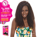 Janet Collection 100% Unprocessed Remy Human Hair Weave - BRAZILIAN BOMBSHELL BOHEMIAN CURL 6PCS (12/12/14/14/16/16 + Closure)