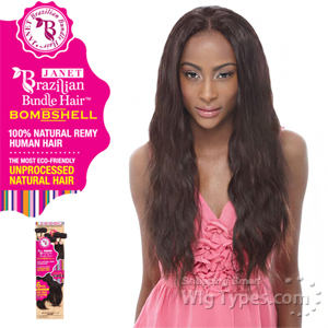 Janet Collection 100% Unprocessed Remy Human Hair Weave - BRAZILIAN BOMBSHELL NATURAL WEAVE 6PCS (12/12/14/14/16/16 + Closure)