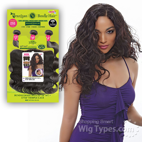 Janet Collection 100 Unprocessed Remy Human Hair Weave Bundle