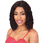 Black Divine Human 100% Virgin Human Hair   Lace Front Wig - HH DIVINE WET N WAVE MEDIUM