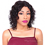 Black Divine Human 100% Virgin Human Hair   Lace Front Wig - HH DIVINE WET N WAVE SHORT