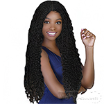 Bohemian Natural Hairline Synthetic Hair Braided Lace Wig - LW BOHO