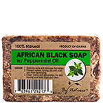 By Natures African Black Soap with Peppermint Oil 3.5oz
