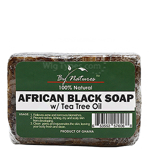 By Natures African Black Soap with Tea Tree Oil 3.5oz