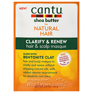 Cantu Shea Butter for Natural Hair Clarify & Renew Hair & Scalp Masque 1.5oz
