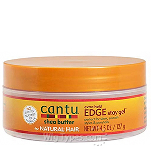 Cantu Shea Butter for Natural Hair Extra Hold Edge Stay Gel 4.5oz