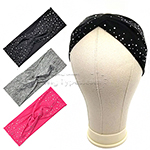 Bon Rhinestone Criss Cross Turban Headband