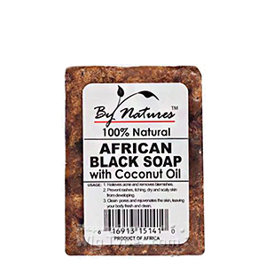 By Natures African Black Soap with Coconut Oil 6oz