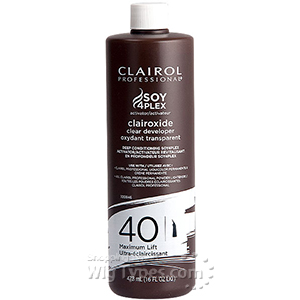 Clairol Soy4Plex Clairoxide Clear developer 40 Gentle Lift 16oz