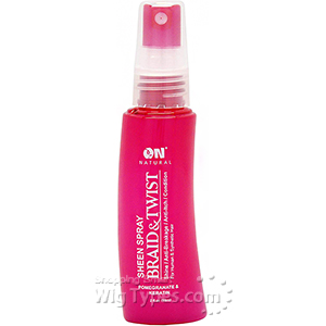 On Natural Sheen Spray Braid & Twist - Pomegranate & Keratin 2oz