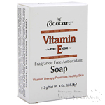 Cococare Vitamin E Fragrance Free Antioxidant Soap 4oz