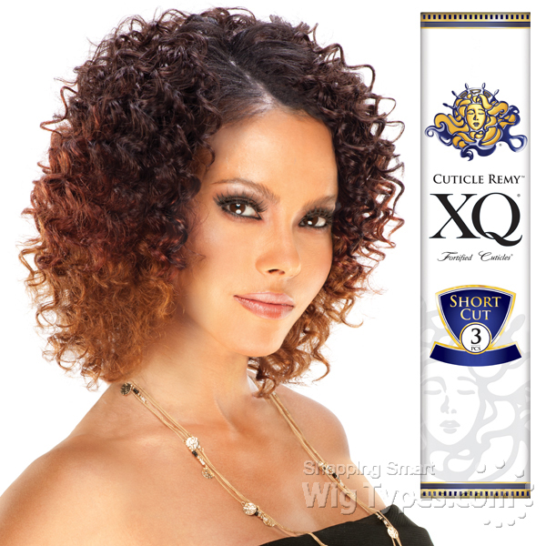 S WAVE XQ CUTICLE REMY 100% REMY HUMAN HAIR WAVY WEAVE