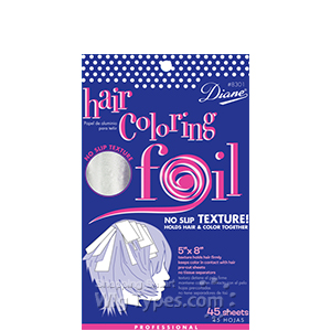 Diane #D8302 Hair Coloring Foil 45-Pack(Large 5x12)