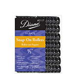 "Diane #2117 Snap-On Rollers 1/2"" Black 14PK"