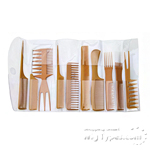 Diane #7902 10pcs Assorted Comb Sets (Bone)