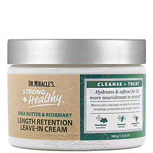 Dr. Miracle's Strong + Healthy Length Retention Leave-In Cream 12oz