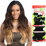Model Model Dream Weaver Human Hair Blend Weaving - Pose Peruvian Body Bundle Wave (16/16/18/18/20/20 + closure)