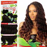 Model Model Dream Weaver Human Hair Blend Weaving - Pose Peruvian Soft Bundle Wave (16/16/18/18/20/20 + closure)